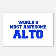 WORLD'S MOST AWESOME Alto-Fre blue 600 Postcards (