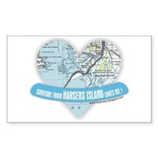 Harsens Island Rectangle Decal