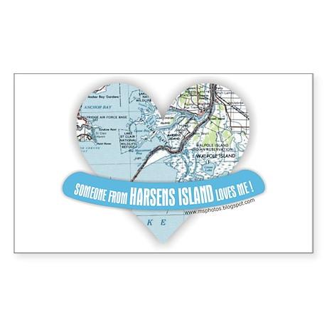 Harsens Island Rectangle Sticker