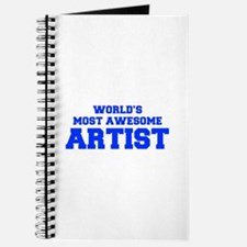 WORLD'S MOST AWESOME Artist-Fre blue 600 Journal