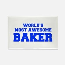 WORLD'S MOST AWESOME Baker-Fre blue 600 Magnets