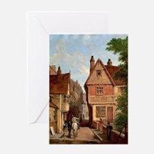 Old Houses, St. Peter's Gate, Nottin Greeting Card