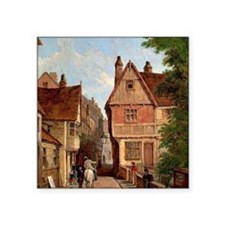 """Old Houses, St. Peter's Gat Square Sticker 3"""" x 3"""""""