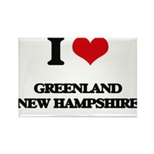 I love Greenland New Hampshire Magnets