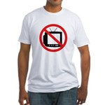 No TV! (Fitted T-Shirt, Made in the USA)