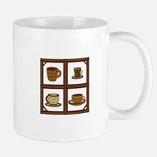 COFFEE CUPS APPLIQUE Mugs