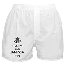 Keep Calm and Janessa ON Boxer Shorts