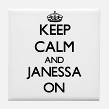Keep Calm and Janessa ON Tile Coaster