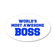 WORLD'S MOST AWESOME Boss-Fre blue 600 Wall Decal