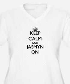 Keep Calm and Jasmyn ON Plus Size T-Shirt