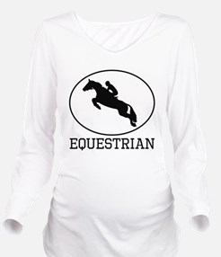 Equestrian Long Sleeve Maternity T-Shirt