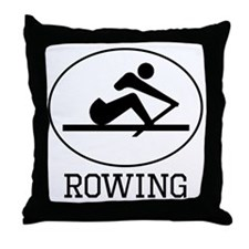 Rowing Throw Pillow
