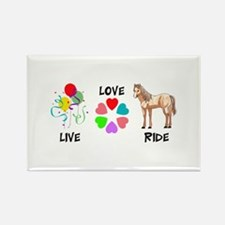 LIVE LOVE RIDE Magnets