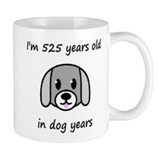 75 dog years 2 Mugs