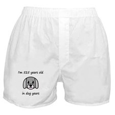 75 dog years 2 Boxer Shorts