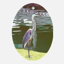 Heron Oval Ornament