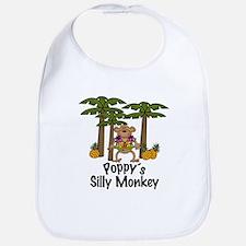 Poppy's Silly Monkey Boy Baby/Toddler Bib
