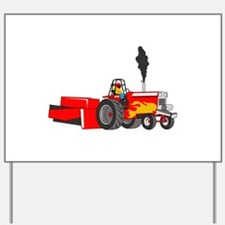 TRACTOR PULL Yard Sign