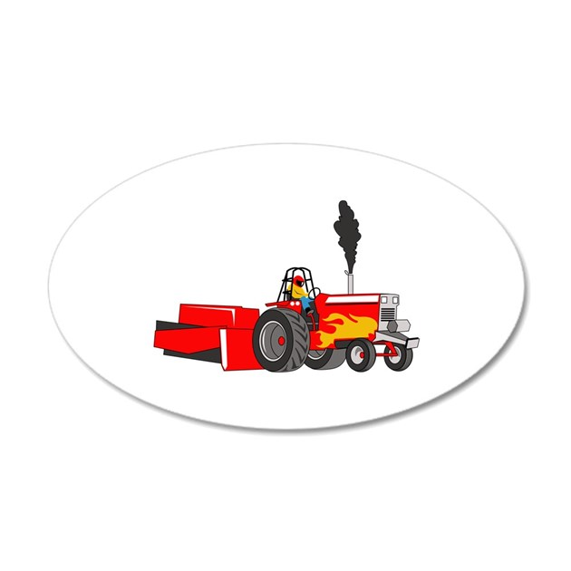 Garden Pulling Tractor Decal : Tractor pull wall decal by greatnotions