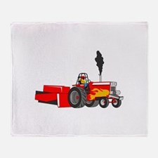 TRACTOR PULL Throw Blanket