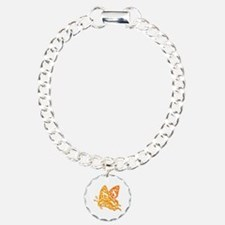 Butterfly_Notes Charm Bracelet, One Charm