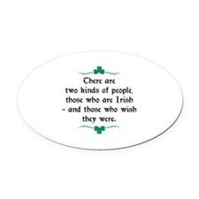 Two Kinds Of People Oval Car Magnet