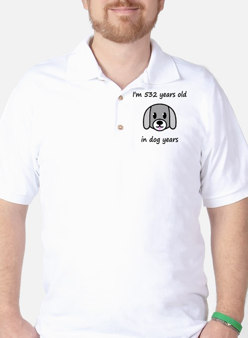76 dog years 2 Golf Shirt