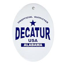 Decatur AL Oval Ornament