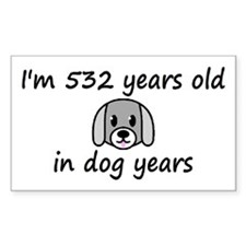 76 dog years 2 - 3 Decal
