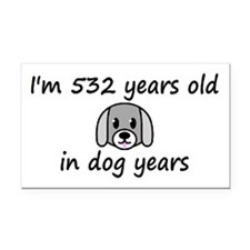 76 dog years 2 - 3 Rectangle Car Magnet