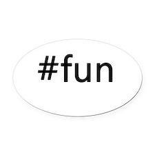 #fun Oval Car Magnet