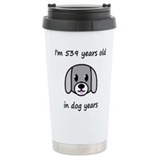 77 dog years 2 Travel Mug
