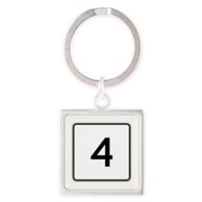 State Route 4, Maine Square Keychain