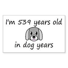 77 dog years 2 - 3 Decal