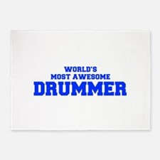 WORLD'S MOST AWESOME Drummer-Fre blue 600 5'x7'Are