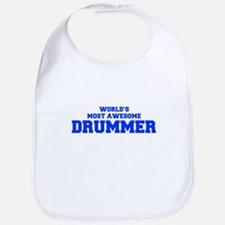 WORLD'S MOST AWESOME Drummer-Fre blue 600 Bib