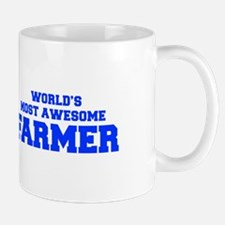 WORLD'S MOST AWESOME Farmer-Fre blue 600 Mugs