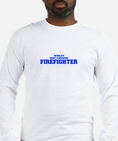 WORLD'S MOST AWESOME Firefighter-Fre blue 600 Long