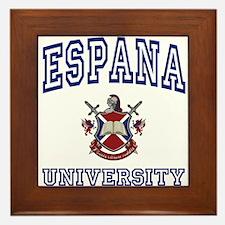 ESPANA University Framed Tile