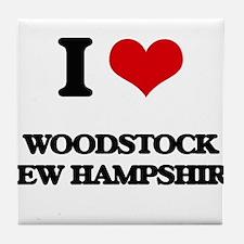 I love Woodstock New Hampshire Tile Coaster