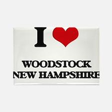 I love Woodstock New Hampshire Magnets
