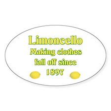 Italian Limoncello Oval Stickers