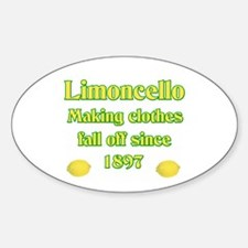 Italian Limoncello Oval Stickers