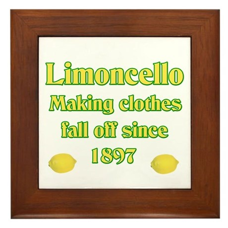 Italian Limoncello Framed Tile