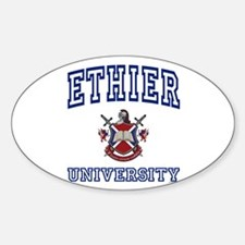 ETHIER University Oval Decal