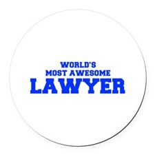 WORLD'S MOST AWESOME Lawyer-Fre blue 600 Round Car