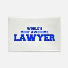 WORLD'S MOST AWESOME Lawyer-Fre blue 600 Magnets
