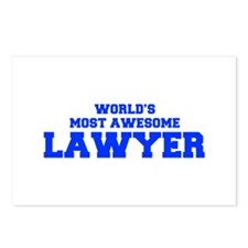 WORLD'S MOST AWESOME Lawyer-Fre blue 600 Postcards