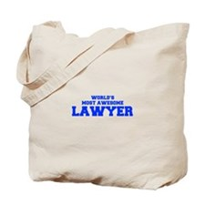 WORLD'S MOST AWESOME Lawyer-Fre blue 600 Tote Bag