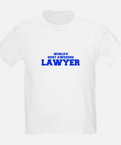 WORLD'S MOST AWESOME Lawyer-Fre blue 600 T-Shirt